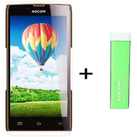 Combo Of Adcom A50 - White + APB 2200mAh Powerbank- Green