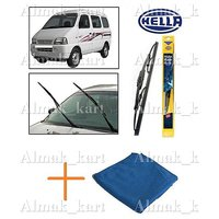 Hella Wipers For Maruti Versa Set Of 2 16 16 + Microfiber Clothes