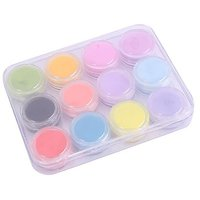 12 Mix Colors Acrylic Powder Builder Nail Art Set