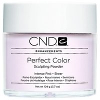 Creative Nail Perfect Color Powder False Nails, Intense Pink, 3.7 Ounce