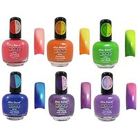 Mia Secret Mood Nail Lacquer Color Changing Nail Polish 6pc Set