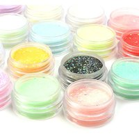 Yesurprise Fashion 18 Colors Glitters Acrylic 3D Nail Art Tips Powder Dust Gel