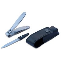 Stainless Steel Nail Clipper With Nail File And Pouch By ToiletTree Products