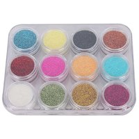 12 Color Nail Art Shiny Sparkle Glitter Powder Dust Tips Manicure DIY Decoration