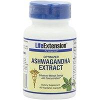 Life Extenson Ashwagandha Extract Veg Capsules, 60-Count