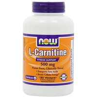 NOW Foods L-Carnitine 500mg, 180 Vcaps