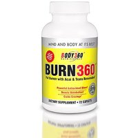 Burn360 All Natural Fat Burner, 72 Count