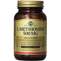 Solgar L-Methionine Vegetable Capsules, 500 Mg, 90 Count