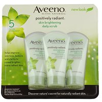 Aveeno Skin Brightening Daily Scrub, 5-Ounce Tubes (Pack Of 3)