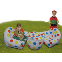 Inflatable Sofa Set - 3 Pcs (Two Chairs & One Table) With Free Air Pump