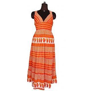 Designer Neck Printed Western Wear Dress Stylish Tunic Kurti