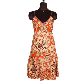 Printed Elegant Look Casual Wear Western Dress Designer Strapped Tunic