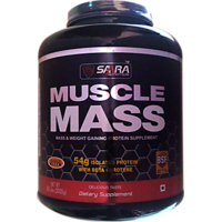 Saara Nutrition MUSCLE MASS  Powder - 6.6lbs (3kg) Chocolate
