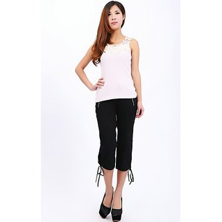 Hi Fashion Black Half Pant With Zipper Pocket Size 34 36 In Wholesale Rate....