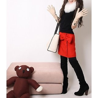 Hi Fashion Red Color Bowknot Skirt Small Size...fresh Stock Hurry....