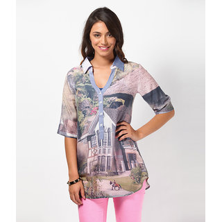 LOVE FROM INDIA - PRINTED TUNIC FOR WOMEN_Free Scarf