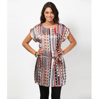 LOVE FROM INDIA - GEOMETRIC MULTI COLORED PRINTED DRESS