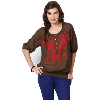 LOVE FROM INDIA  SOLID TUNIC FOR WOMEN _buy One Tunic Get One Scraf Free