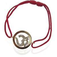 Om Gold Bracelet With Diamonds (Gold Rakhi)