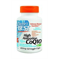 Doctor's Best High Absorption CoQ10 (400 Mg), Vegetable Capsules, 60-Count