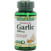 Nature's Bounty Odorless Garlic 1000mg, 100 Softgels (Pack Of 3)