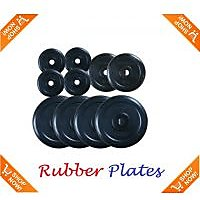 Welkin  20 KG SPARE RUBBER WEIGHT PLATES WITH BUSH