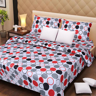 Dream Decor Designer Cotton Double Bed Sheet With 2 Pillow Covers - 20 Option