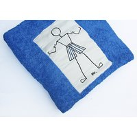 Blue Colour Bath Towel