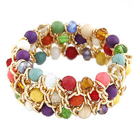 Young & Forever  Multicolor Agate Anchor Chain Bracelet For Women By CrazeeMania