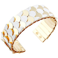 Young & Forever  Silver Glitter Cuff Bracelet For Women By CrazeeMania