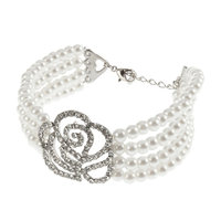 Young & Forever  Diva's Special Rose Pearl Bracelet For Women By CrazeeMania