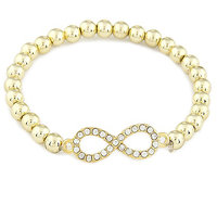 Young & Forever  Gold Infinity Strand Bracelet For Women By CrazeeMania