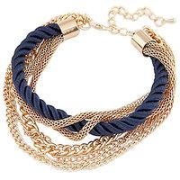 Young & Forever  Multilayer Navy Blue Elegant Bracelet For Women By CrazeeMania