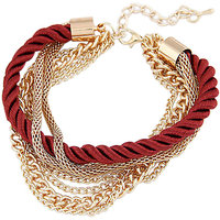 Young & Forever  Multilayer Red Elegant Bracelet For Women By CrazeeMania