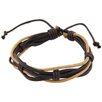 Young & Forever  Luck Brown Multistrand Leather Bracelet For Women By CrazeeMani