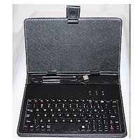 7 INCH TABLET LEATHER CASE COVER WITH KEYBOARD USB BLACK STAND