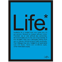 Stuffpanda Whacky Cool Funky Funny Life Glass framed posters, Wall art (8x12 inches) Blue
