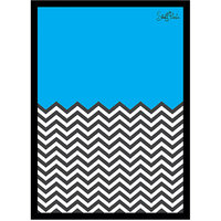 Stuffpanda Whacky Cool Funky Abstract Ws Blue n White Glass frame posters Wall art (8x12 inches)