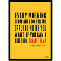Stuffpanda Whacky Cool Funky Motivational Every morning when Glass frame posters Wall art (8x12 inches)