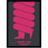 Stuffpanda Whacky Cool Funky abstract Twist Glass framed posters, Wall art (8x12 inches) Magenta