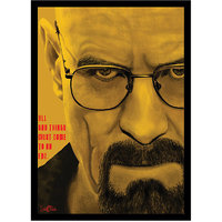 Stuffpanda Whacky Cool Funky Breaking Bad Glass frame posters, Wall art (8x12 inches) Yellow
