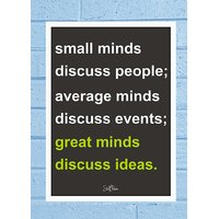Stuffpanda Whacky Cool Abstract Motivation Great mind discuss Glass frame posters Wall art (8x12 inches)