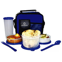 Oliveware Olympic Lunch Box With Bag (1 Big, 2 Small Containers And Tumbler)