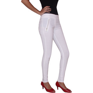 FUNGUS LADIES JEANS--WHT-001