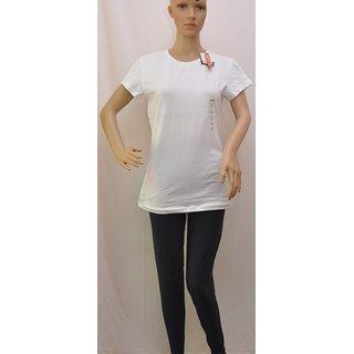 "T Shirt Womens Splash Stretch White Colour Size""L"" (16) SKU  UCTSL026"