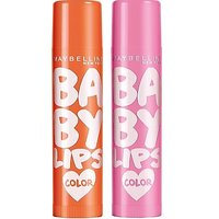Maybelline Baby Lips Color Lip Balm Pink Lolita & Coral Flush (Pack Of 2)