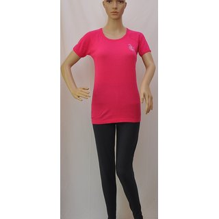 "Womens T Shirt Short Sleeve Cotton Pink Size ""S"" UCTSL068"