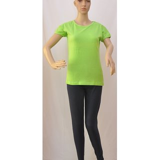 "Womens T Shirt Short Sleeve Cotton Green Size ""S"" UCTSL062"