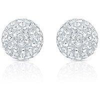 Oviya Rhodium Plated Mesmerizing Shine Earrings With Crystal For Women