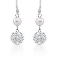 Oviya Rhodium Plated Regalia Luxury Earrings With Crystal For Women
